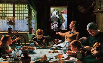 «One of the Family», ελαιογραφία του Frederick Cotman, 1880. Walker Art Gallery, Λίβερπουλ.