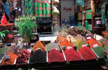 Αγορά μπαχαρικών στην Κωνσταντινούπολη.