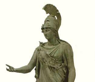 Το άγαλμα της Αθηνάς. Μουσείο του Πειραιά.