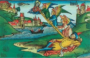 «Το όνειρο του Ιακώβ», Βίβλος της Νυρεμβέργης, 1483.