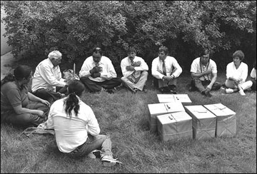 Τελετή για την επιστροφή ανθρώπινων καταλοίπων από το National Museum of Natural History, σε μέλη της φυλής.