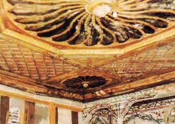 Αρχοντικό Νατζή, Καστοριά, 18ος αι. Λεπτομέρεια της οροφής.