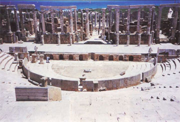 Μεγάλη Λέπτις. Το αρχαίο θέατρο.