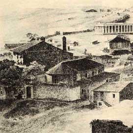 Ο Άγιος Αθανάσιος του Ψυρρή όπως σωζόταν τον πρώτο χρόνο μετά την απελευθέρωση.