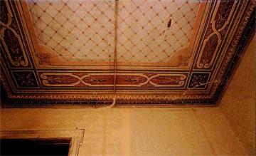 Λεπτομέρεια εσωτερικής οροφογραφίας στο σπίτι του Σπυρίδωνος Τρικούπη στο Άργος.