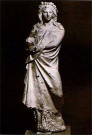 Η «΄Ορθια Κόρη». Μουσείο Χαλεπά στον Πύργο της Τήνου.