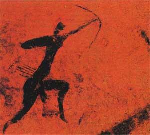 Προϊστορικός κυνηγός της Σαχάρας.