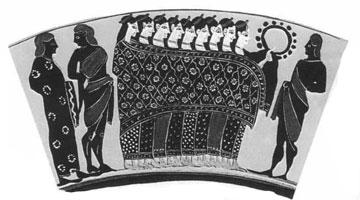 Εννέα γυναίκες κάτω από μανδύα.