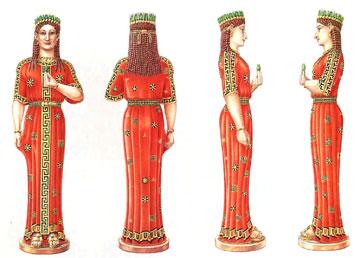 Τα έξοχα χρώματα του αγάλματος της Φρασίκλειας (σχ. Herbert Meinhold).