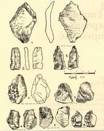 Λίθινα εργαλεία από τη σπηλιά Γαλατά και την ευρύτερη περιοχή.