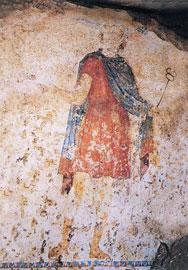 Ο Ερμής στον τάφο της Κρίσεως, στα Λευκάδια Νάουσας.
