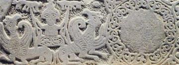 «Η άνοδος του Αλεξάνδρου στον ουρανό», 14ος αι. Περίβλεπτος, Μουσείο Μυστρά.