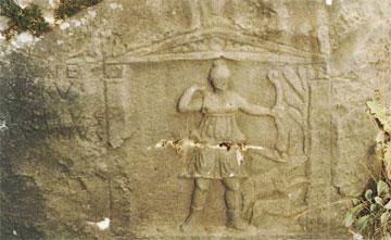 Η Άρτεμις κυριαρχεί στα βραχοανάγλυφα των Φιλίππων.
