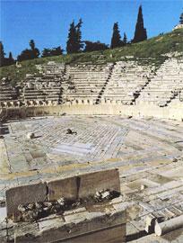 Άποψη από το Θέατρου του Διονύσου.