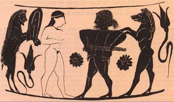 Αρχαϊκός χαλκιδαϊκός αμφορέας.