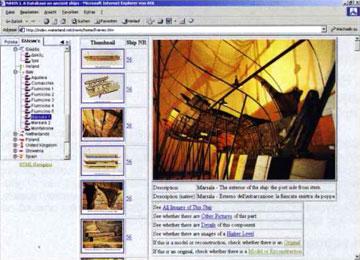 NAVIS, οθόνη παρουσίασης του ελληνιστικού φοινικικού πολεμικού πλοίου από τη Marsala της Σικελίας, Μουσείο Lilybaeum