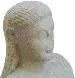 Εξαιρετικής τέχνης κεφαλή κούρου της αρχαϊκής εποχής που αποκαλύφθηκε στη νησίδα Δεσποτικό.