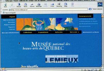 Αρχική σελίδα του Μουσείου του Κεμπέκ.
