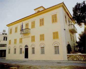 Πρόσοψη του Μπενάκειου Αρχαιολογικού Μουσείου Καλαμάτας.