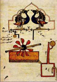 Λεπτομέρεια του 6ου υδραυλικού-μηχανικού ωρολογίου του αλ-Τζάζαρι.
