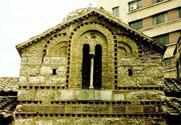 Αθήνα, Ναός Αγίων Θεοδώρων. Λεπτομέρεια δυτικής όψεως.
