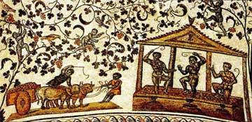 Παράσταση τρύγου των αρχών του 4ου αι. Ρώμη, Αγία Κωνσταντία.