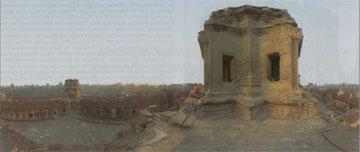 Πανοραμική εικόνα του ναού του Angkor Wat.