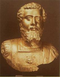 Χρυσή προτομή Σεπτίμιου Σεβήρου, Πλωτινόπολη.