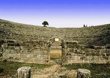 Το αρχαίο θέατρο της Δωδώνης.