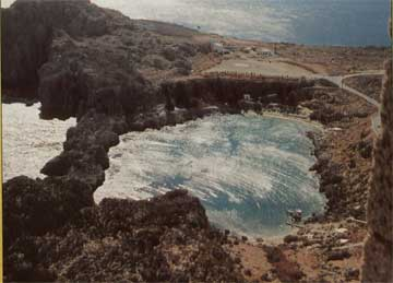 Μια καταβύθιση δημιούργησε τούτη τη λιμνούλα.