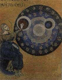 Η Δημιουργία του Κόσμου. Τμήμα ψηφιδωτού της Γένεσης, 1180-1190. Σικελία, Μονρεάλε, Μητρόπολη (ναός).