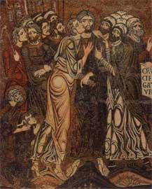Ο Ιούδας προδίδει τον Χριστό. Ψηφιδωτό, 1180-1190, Βενετία, Άγιος Μάρκος (ναός).