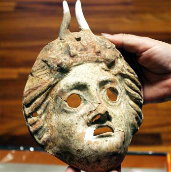 The masks date back to 1 AD and symbolize abundance and plentitude.
