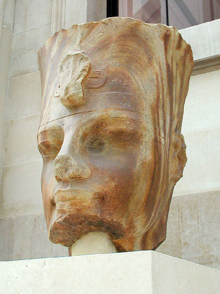 Previously discovered Quartzite head of Amenhotep III.