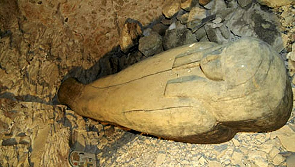 Precious artefacts  - including a coffin - were found in a newly discovered non-royal 22nd Dynasty tomb in the Valley of the Kings.