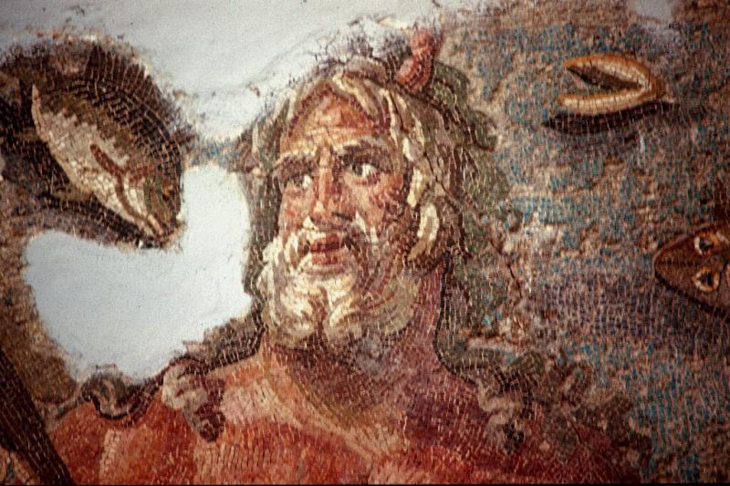 Oceanus, mosaic detail, Hatay Museum.