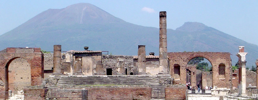 View of Pompeii.