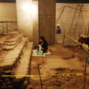 Ruins of Aztec School Exhibited in Mexican Capital