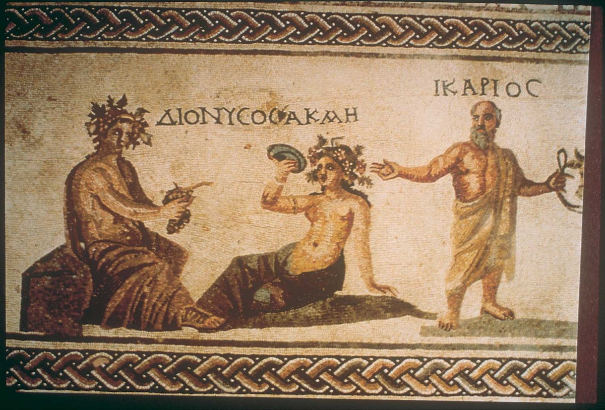 Mosaic of the House of Dionysus, at the archaeological park of Kato Paphos.
