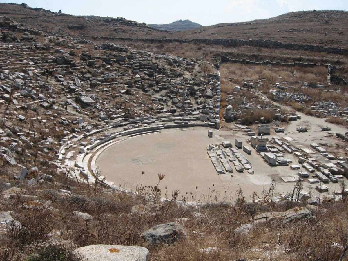 The ancient theatre of Delos.
