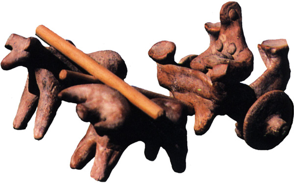 An ox-cart model from Harappa, Indus Valley.