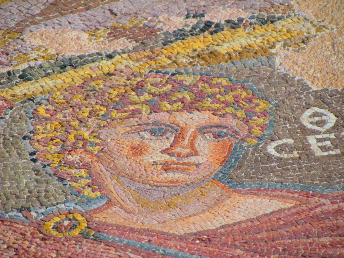 Mosaic at the House of Dionysos.