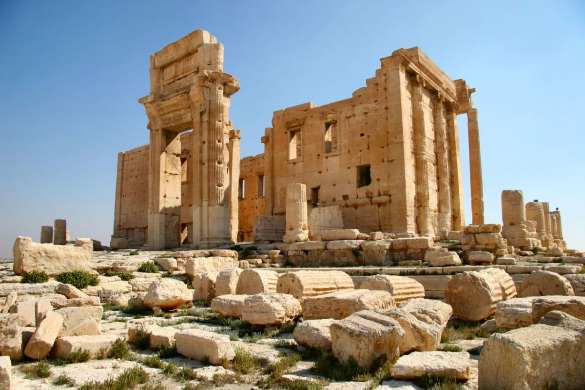 Palmyra, the temple of Bel.