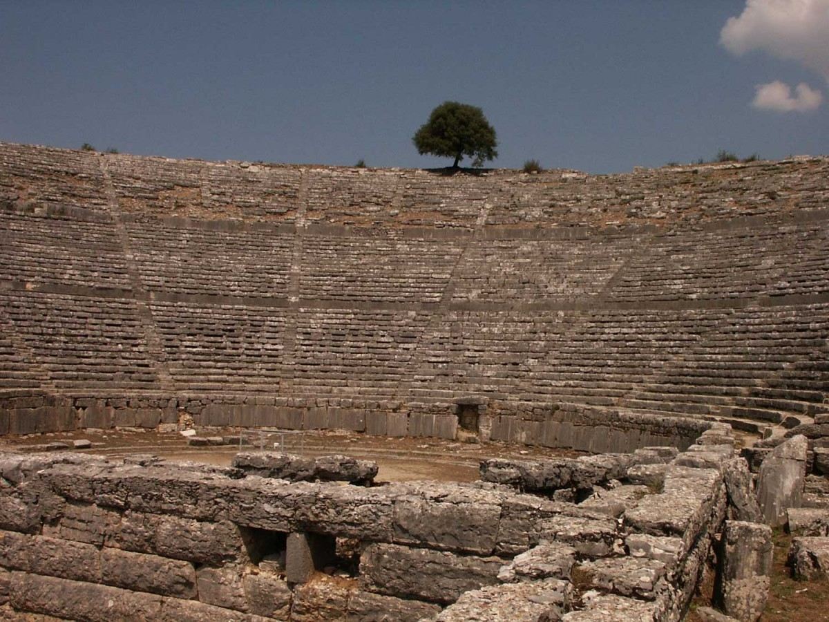 The ancient theatre of Dodoni.
