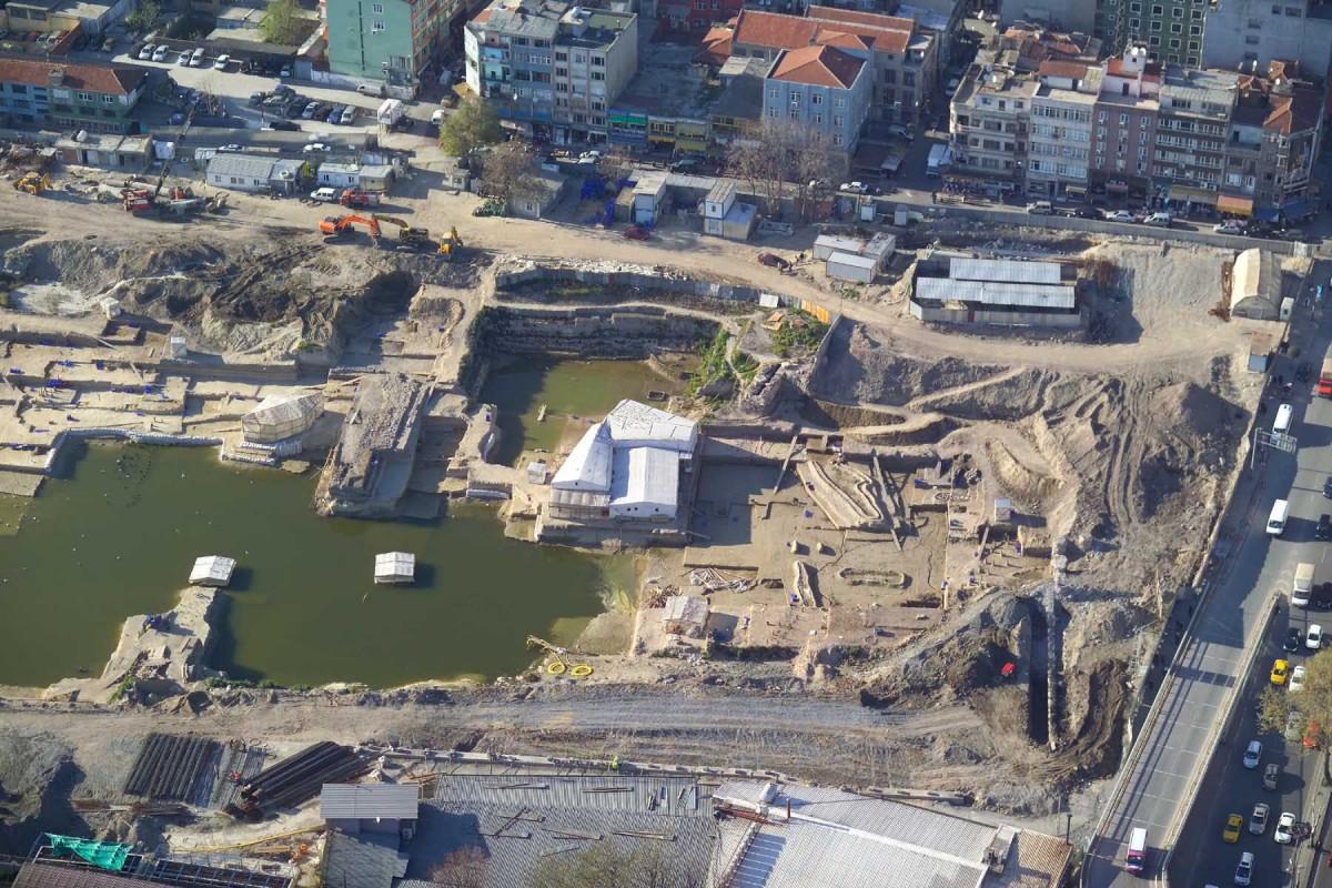 Excavations at Yenikapi district in Turkey.