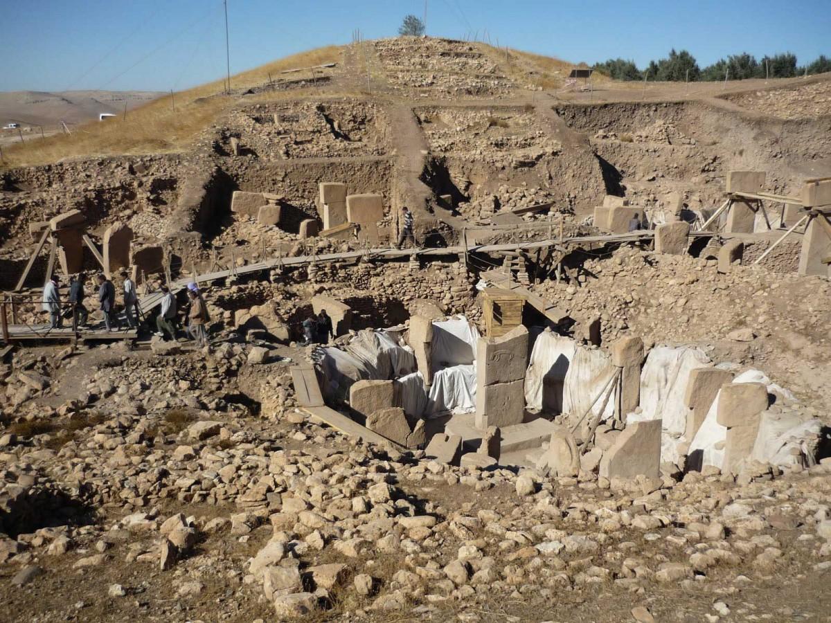 View of the Göbeklitepe excavation.