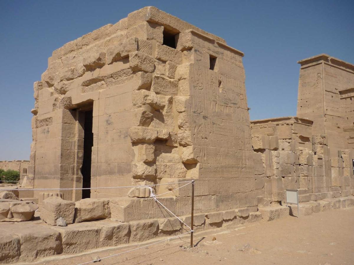 Part of Hathor temple, Philae, Egypt.