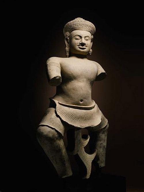 The Duryodhana statue, a 10th-century Cambodian sandstone statue.