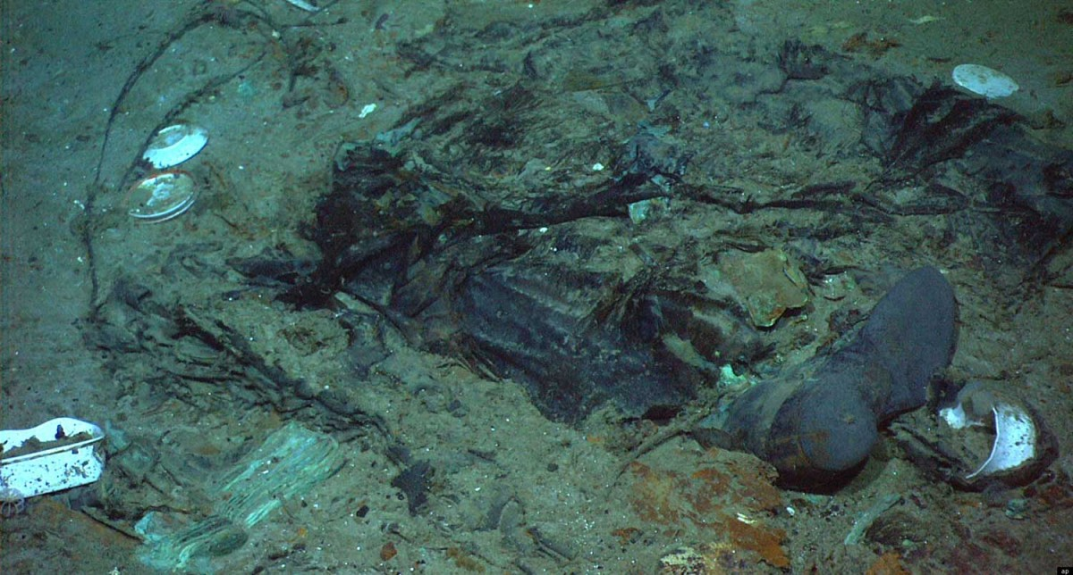 This photo, showing the remains of a coat and boots, was published for the first time this week in an uncropped version.