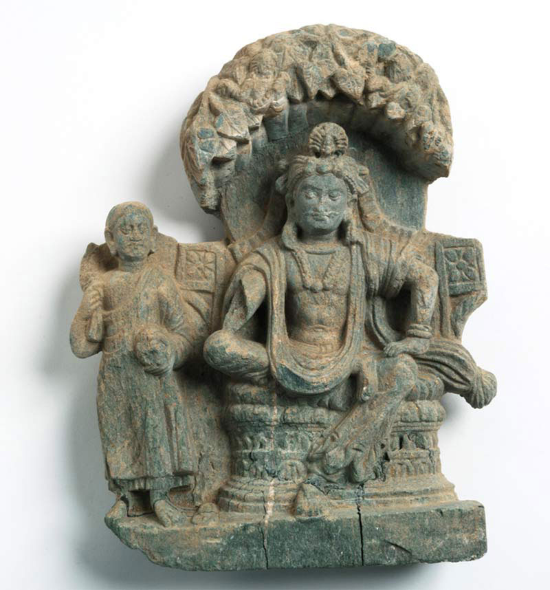 A newly discovered stele from Mes Aynak, in Afghanistan, reveals a depiction of a prince and monk. The prince is likely the founder of Buddhism.